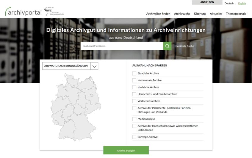 Archivportal-Startseite
