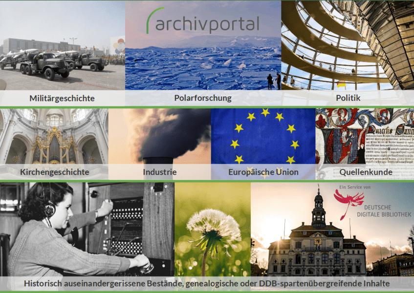 Mögliche Themenportale im Archivportal-D