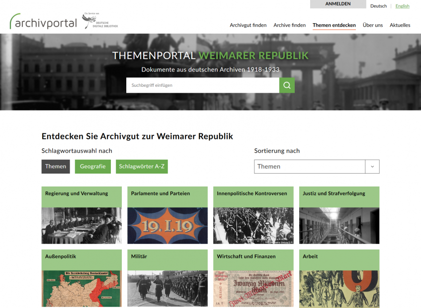 Themenportal Weimarer Republik - Startseite