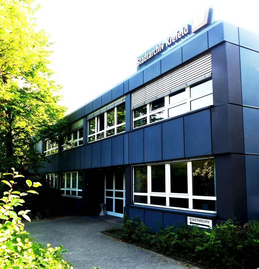 Das Gebäude des Stadtarchivs Krefeld