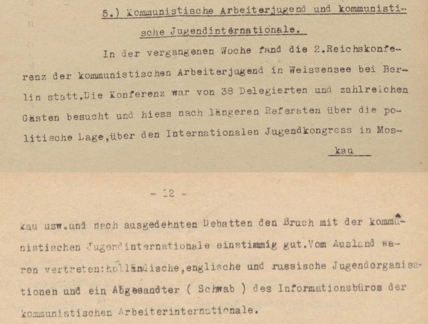 Lageberichte des Reichskommissars für Überwachung der öffentliche Ordnung, Nr. 62a - KAPD