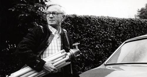 Hans Lachmann auf dem Weg zu einem Auftrag, ca. 1975-1980