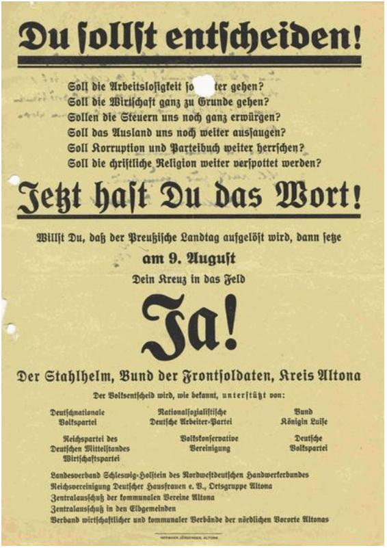 Volksbegehren für die Auflösung des preußischen Landtages